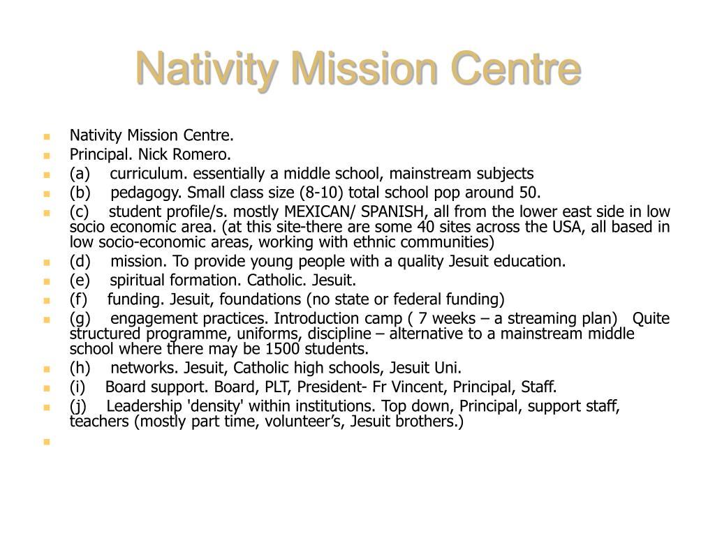 Nativity Mission Centre