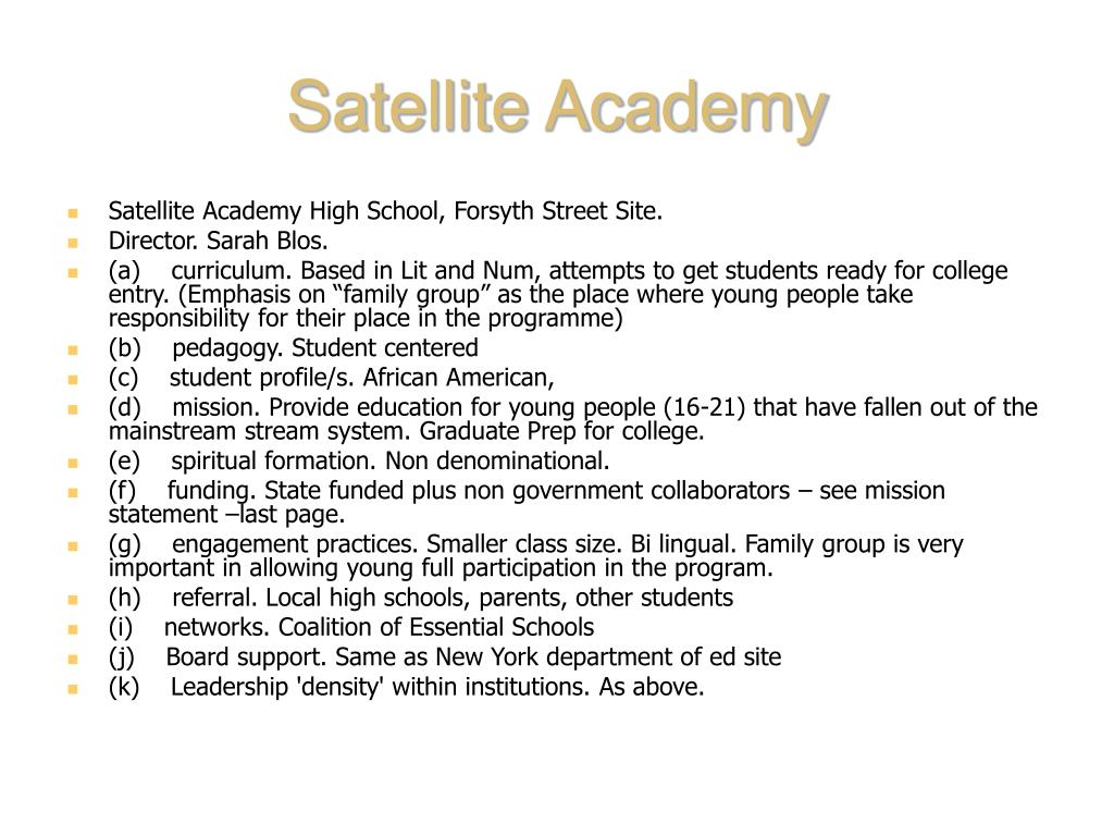 Satellite Academy