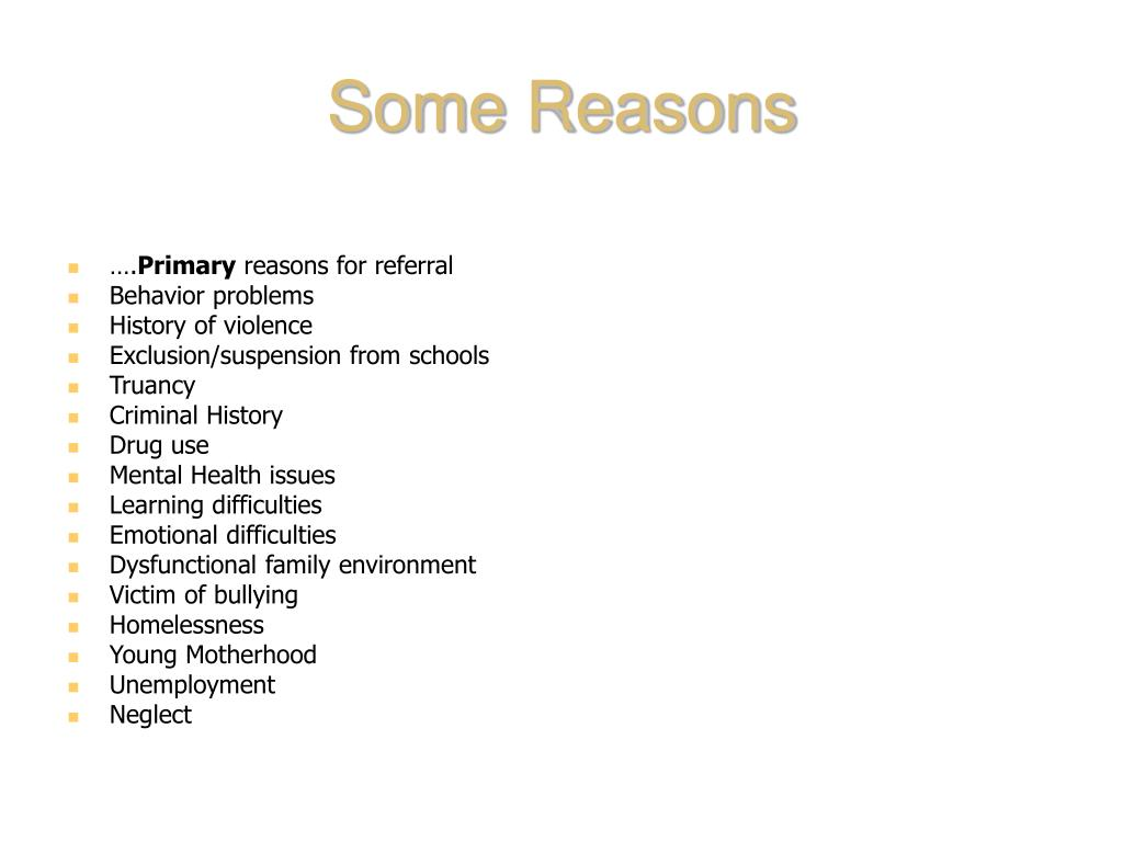 Some Reasons