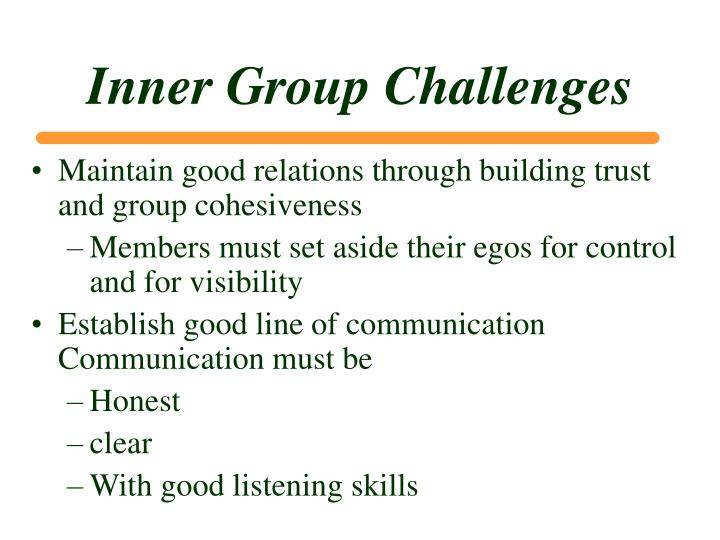 Inner Group Challenges