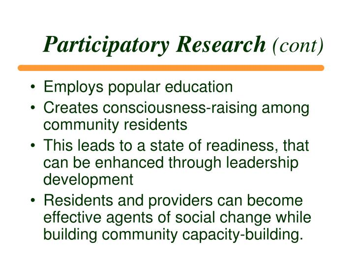 Participatory Research