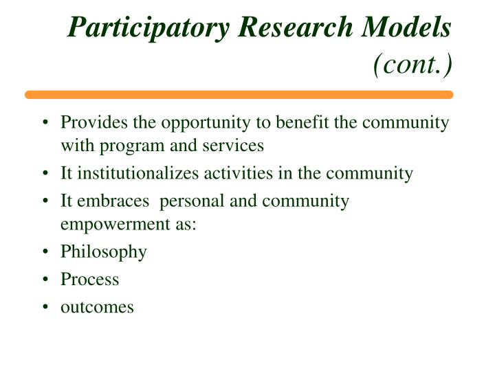 Participatory Research Models