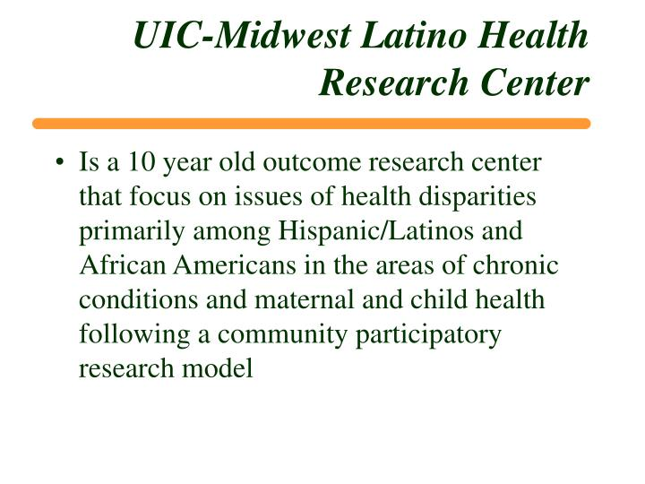 UIC-Midwest Latino Health Research Center