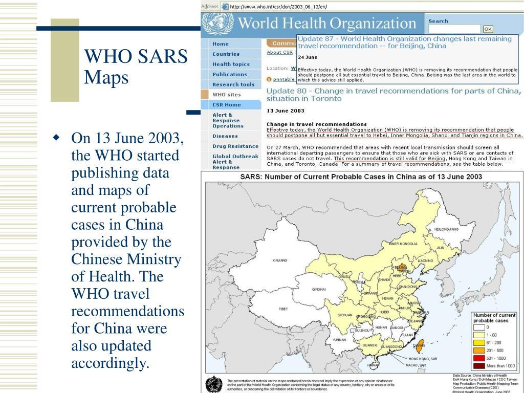 WHO SARS Maps