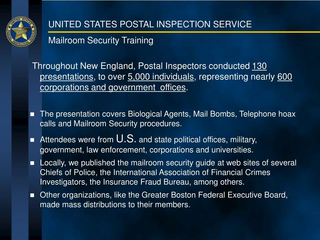 Mailroom Security Training