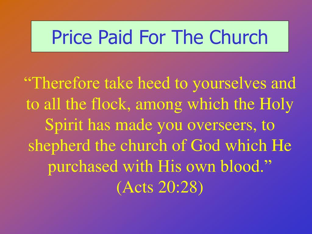 Price Paid For The Church