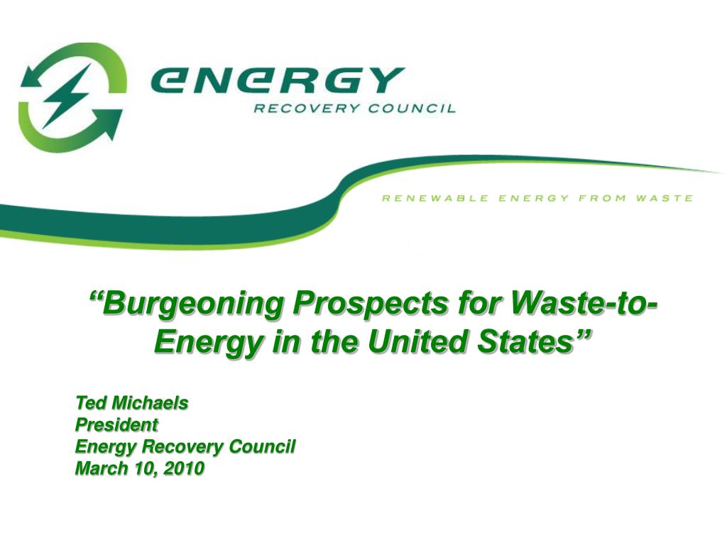 """""""Burgeoning Prospects for Waste-to-Energy in the United States"""""""