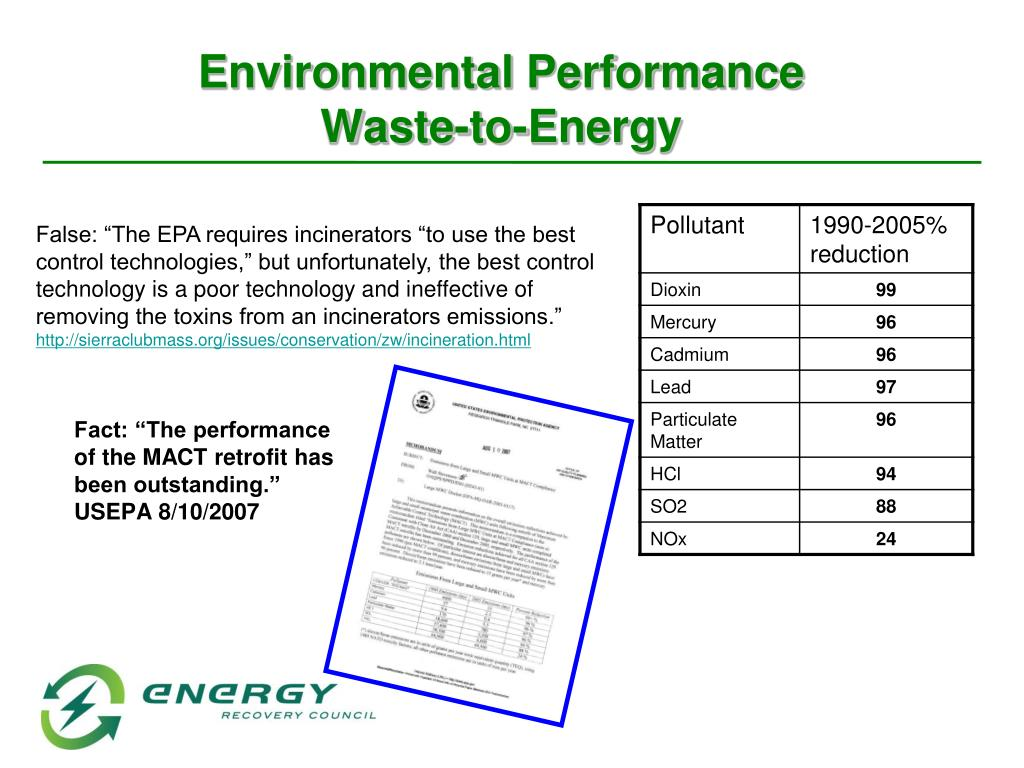 """Fact: """"The performance of the MACT retrofit has been outstanding.""""  USEPA 8/10/2007"""