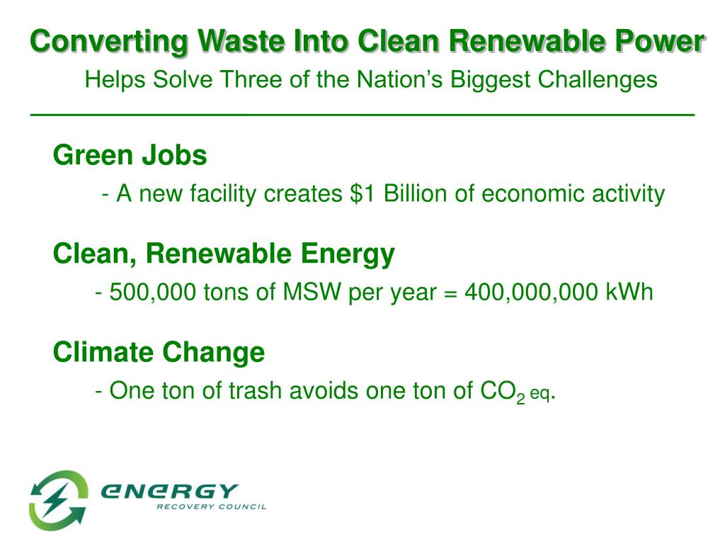 Converting Waste Into Clean Renewable Power