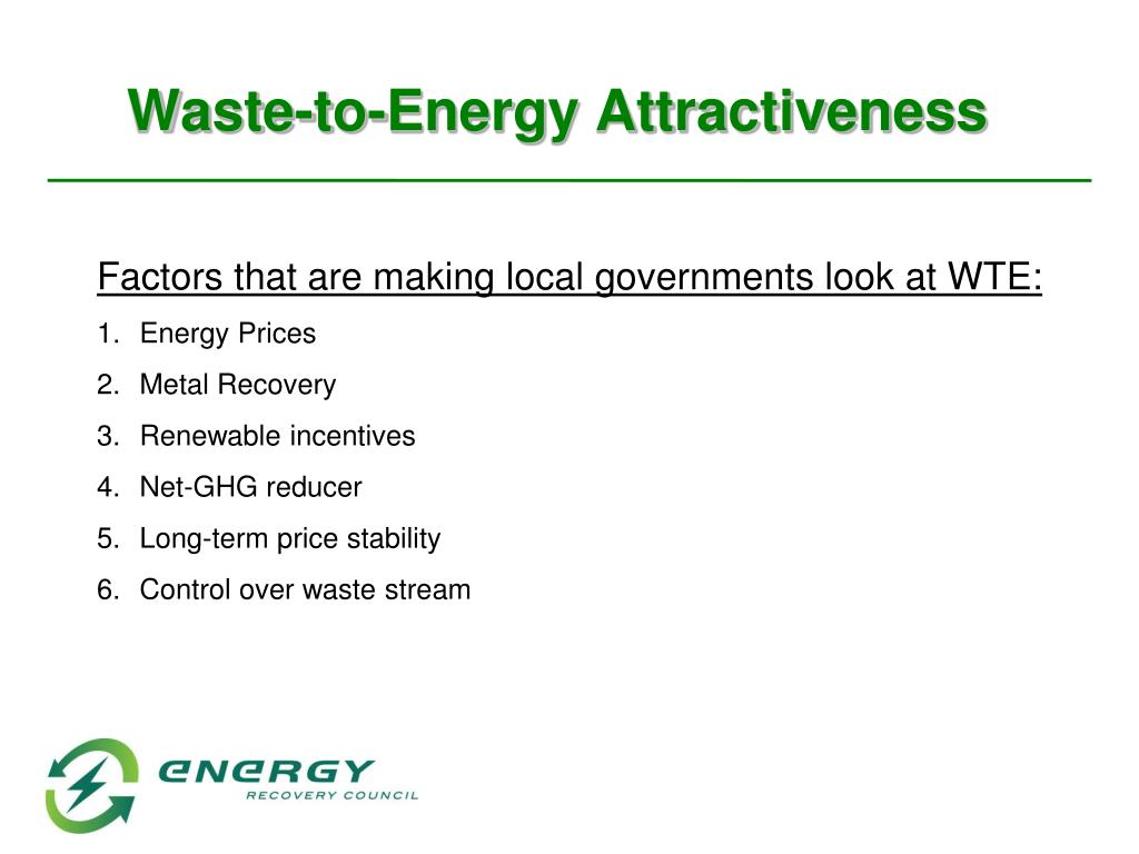 Waste-to-Energy Attractiveness
