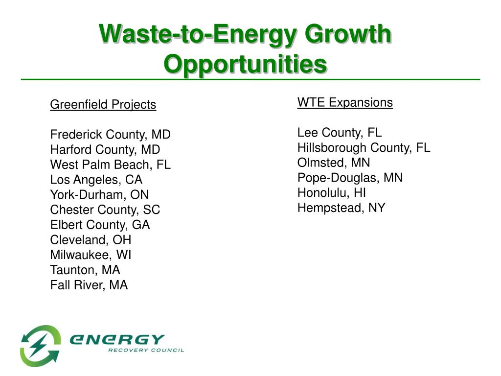 Waste-to-Energy Growth Opportunities