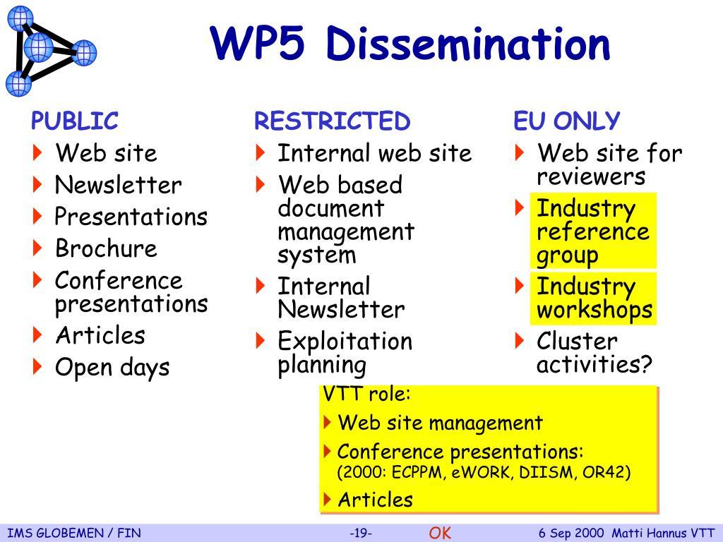 WP5 Dissemination
