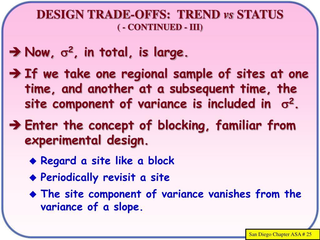 DESIGN TRADE-OFFS:  TREND