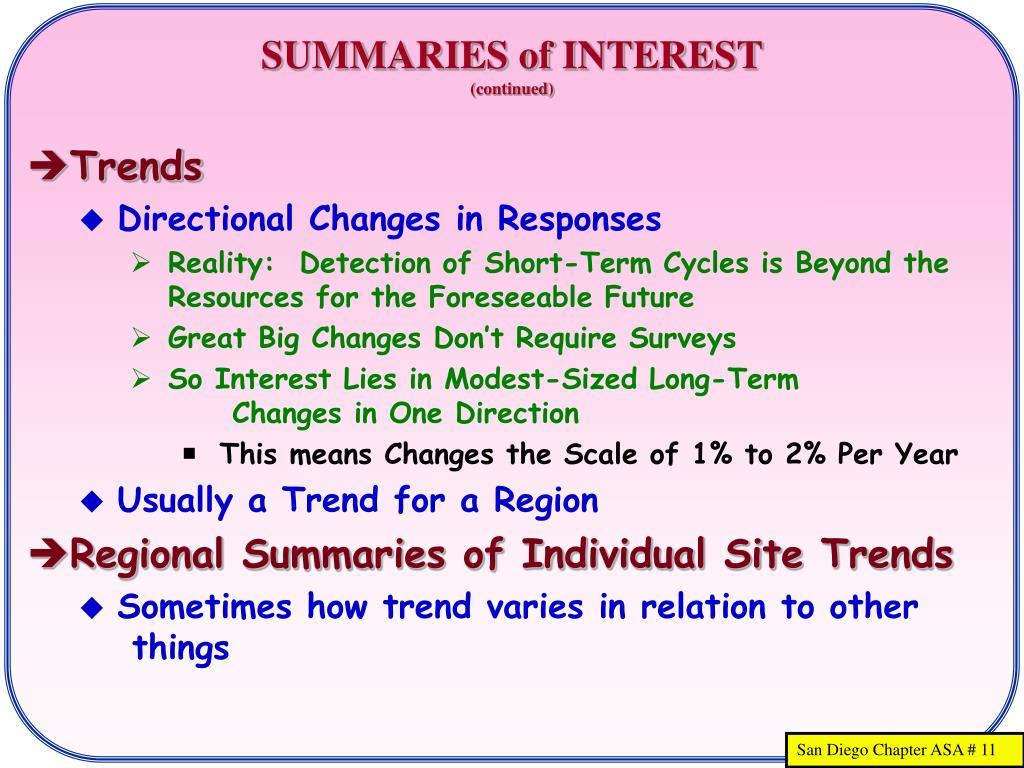 SUMMARIES of INTEREST