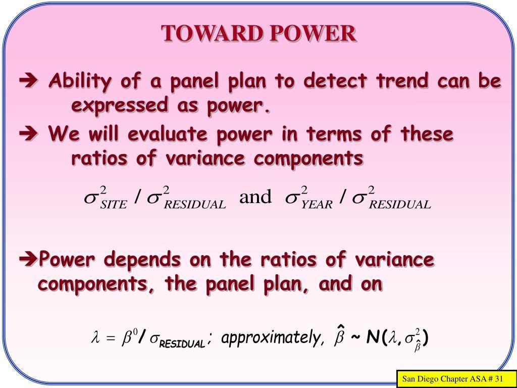 TOWARD POWER