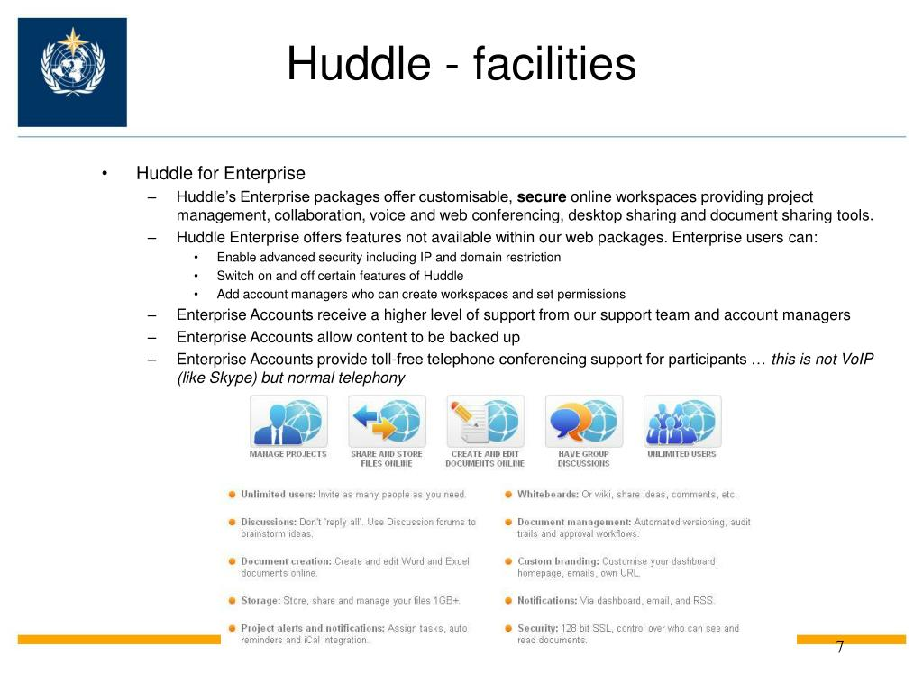 Huddle - facilities
