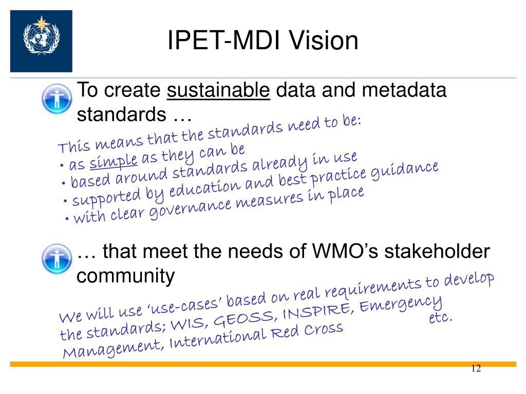IPET-MDI Vision
