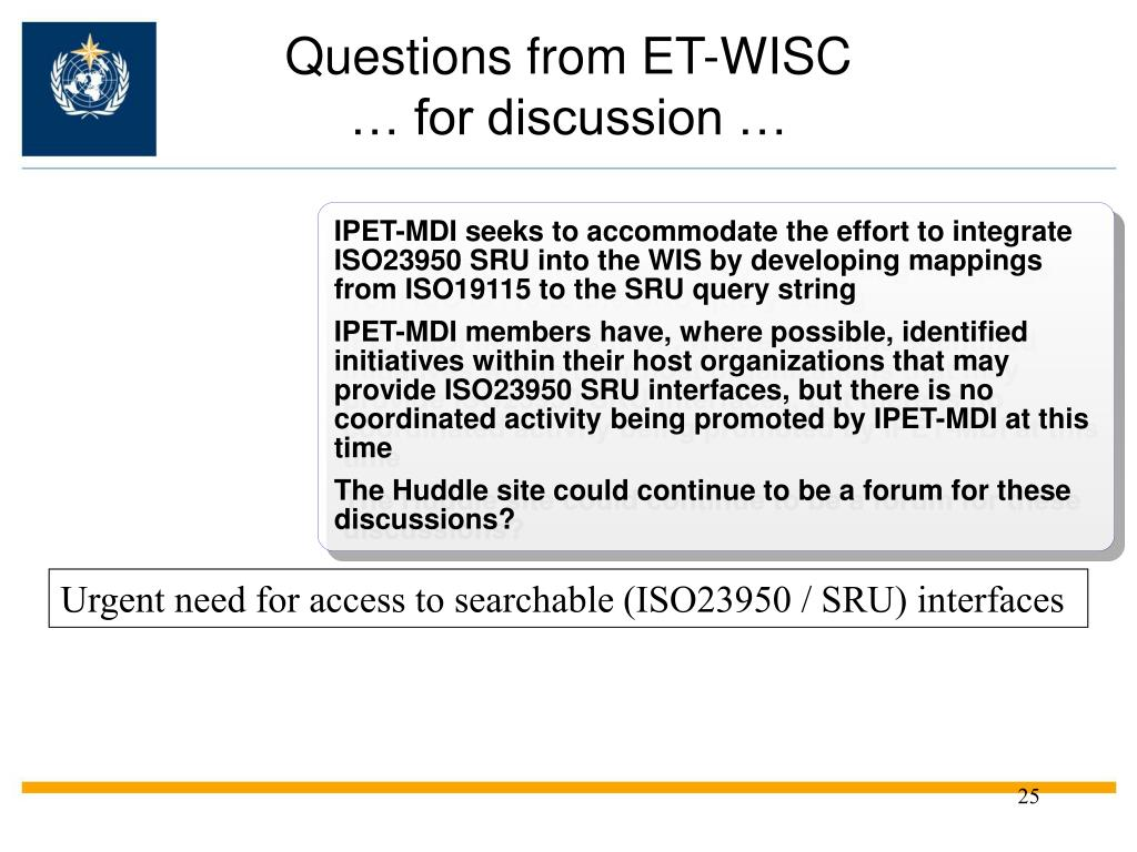Questions from ET-WISC