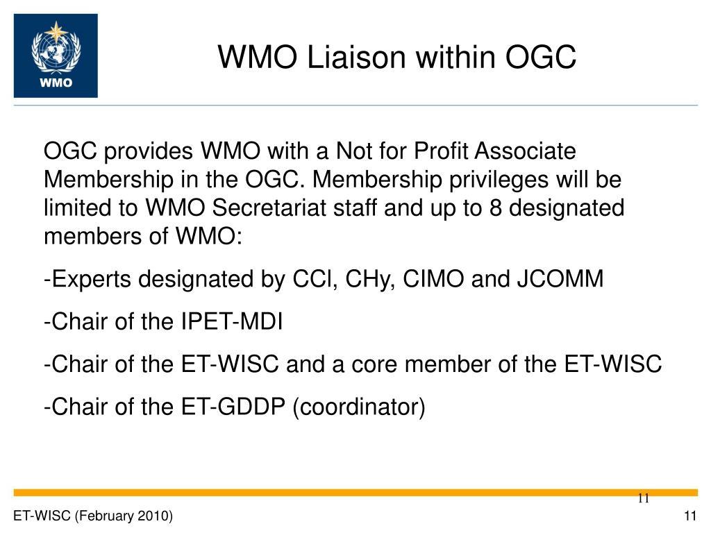 WMO Liaison within OGC