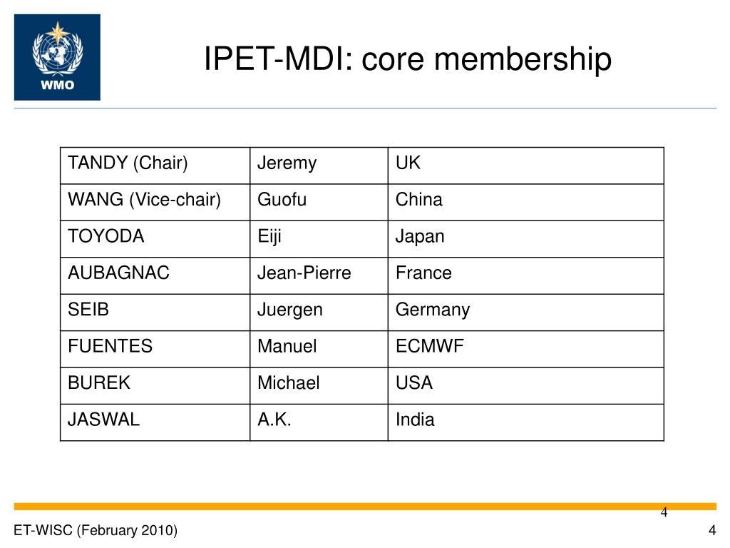 IPET-MDI: core membership