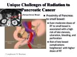unique challenges of radiation to pancreatic cancer