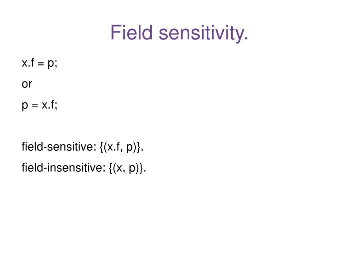 Field sensitivity.