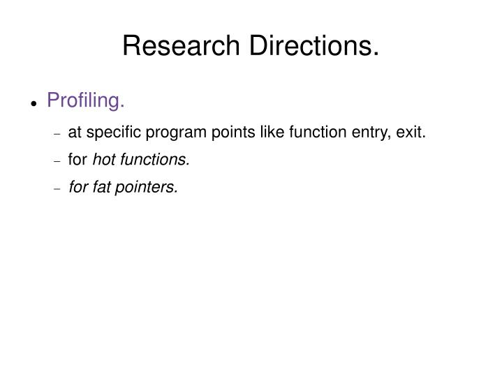 Research Directions.