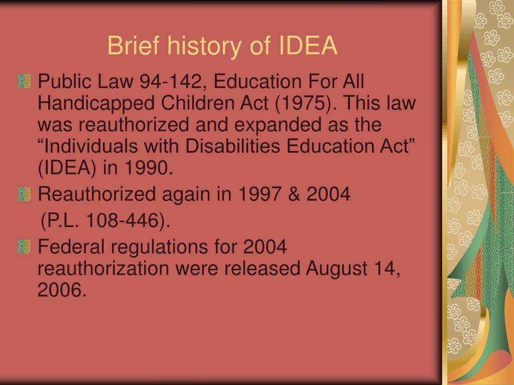 Brief history of IDEA