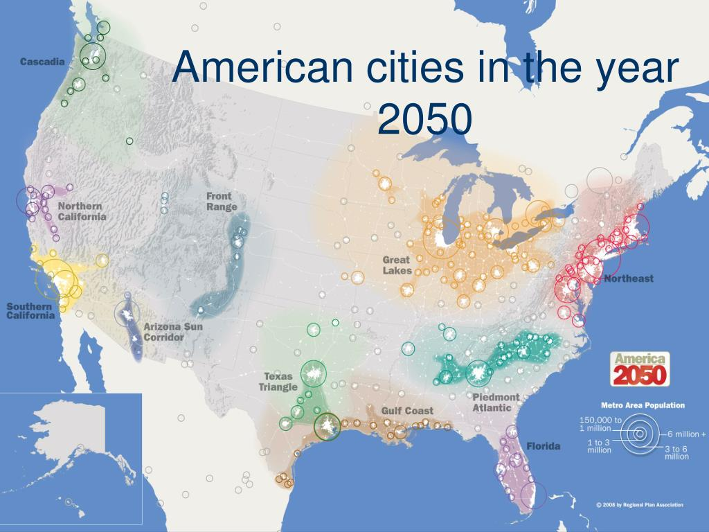 American cities in the year 2050
