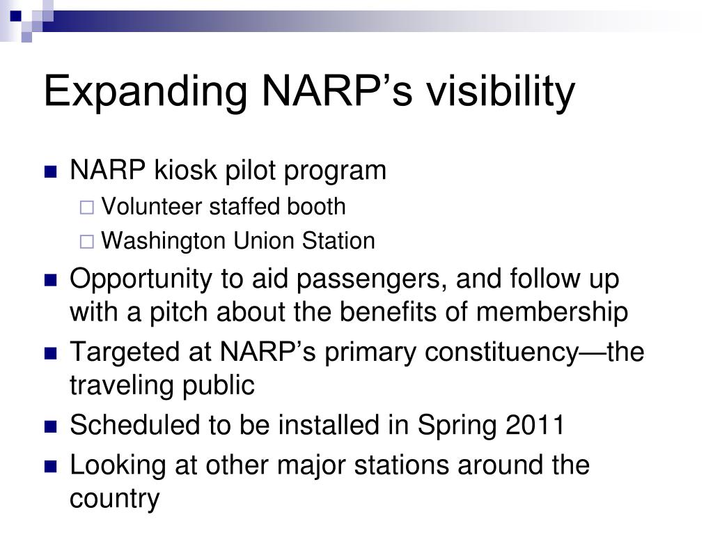 Expanding NARP's visibility