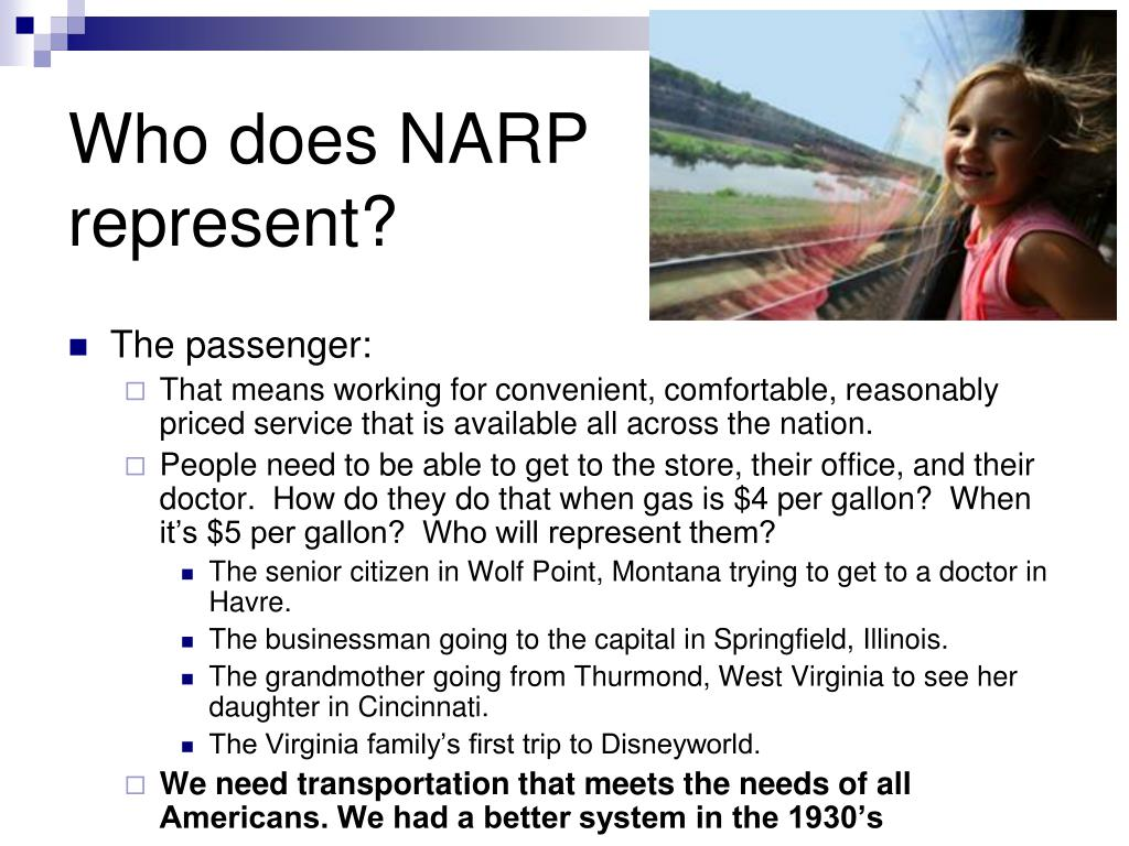 Who does NARP represent?