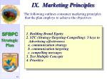 ix marketing principles62