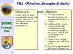 viii objectives strategies tactics