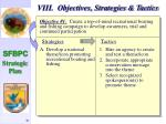 viii objectives strategies tactics31