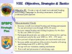 viii objectives strategies tactics36