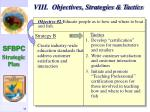 viii objectives strategies tactics39