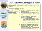 viii objectives strategies tactics41
