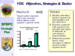 viii objectives strategies tactics44