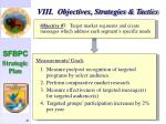 viii objectives strategies tactics47