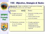 viii objectives strategies tactics55