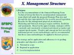 x management structure