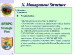 x management structure72
