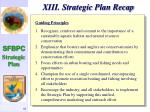 xiii strategic plan recap84