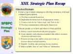 xiii strategic plan recap85