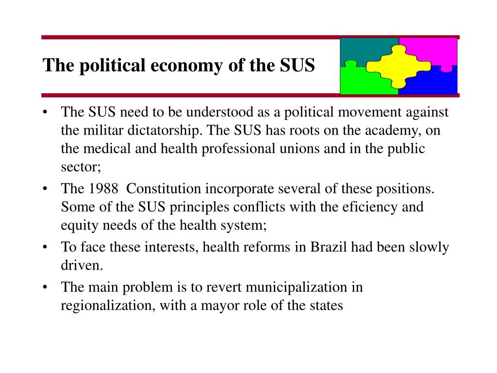 The political economy of the SUS