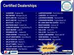 certified dealerships