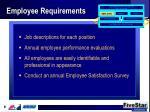 employee requirements