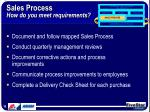 sales process how do you meet requirements