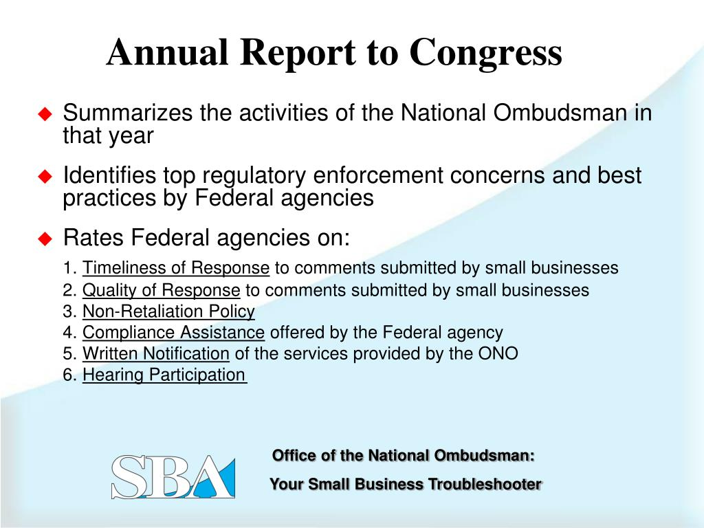 Summarizes the activities of the National Ombudsman in that year