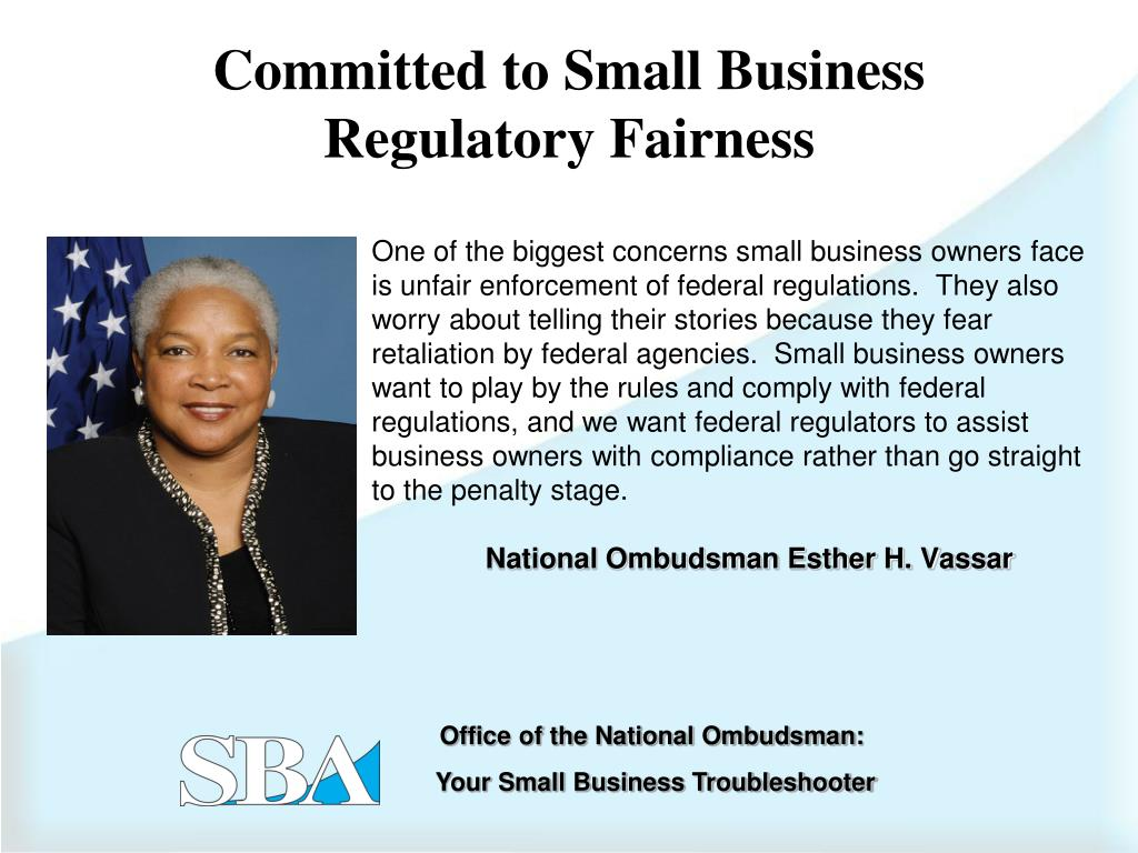 Committed to Small Business